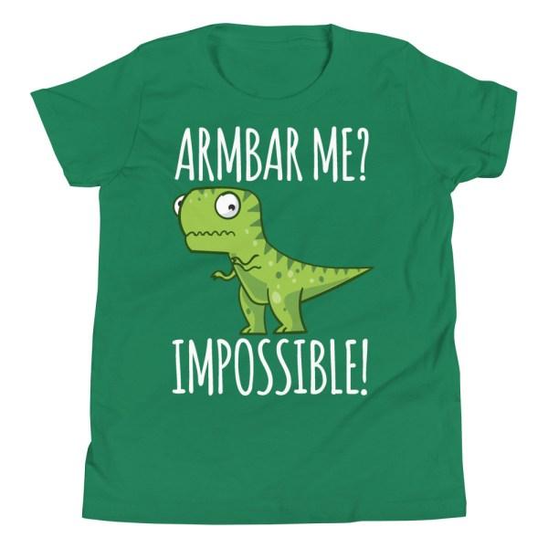 Youth/Kid BJJ T-Shirt Brazilian Jiu-Jitsu Armbar T-Rex? Not Possible 4