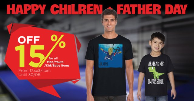 Happy Children and Father day - Sale off 15% for all Baby/Kid/Youth items from 03 to 30 June. 1