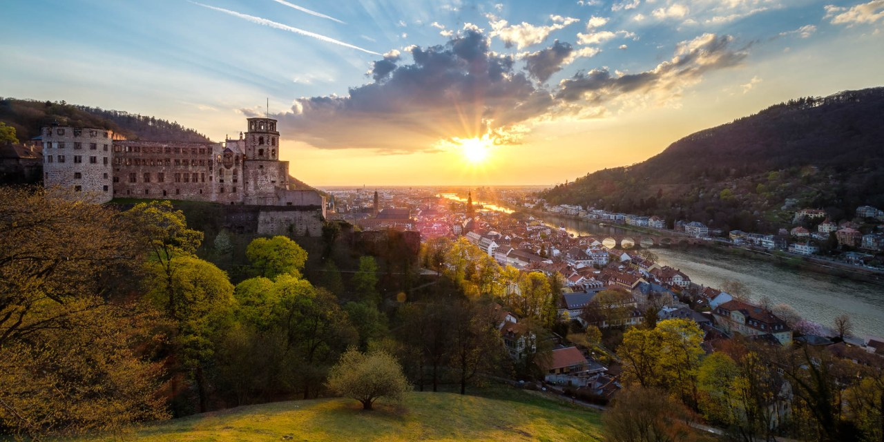 Heidelberg, Sonnenuntergang, Sunset, Palace, Schloss, Altstatdt