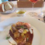 Humarhali, foie gras og kornhæna