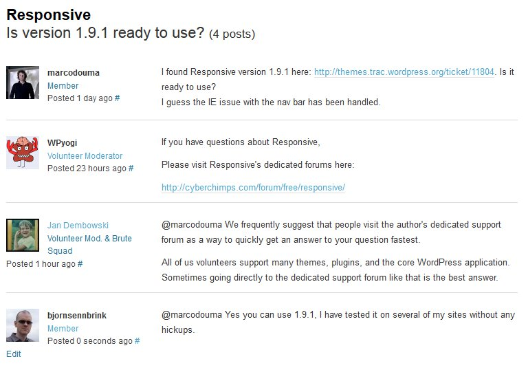 Responsive Theme Support thread at WordPress.org