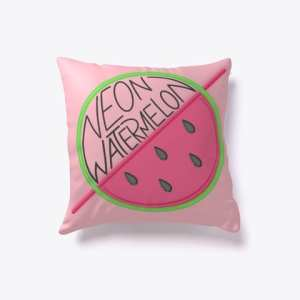 Neon Watermelon Throw PIllow