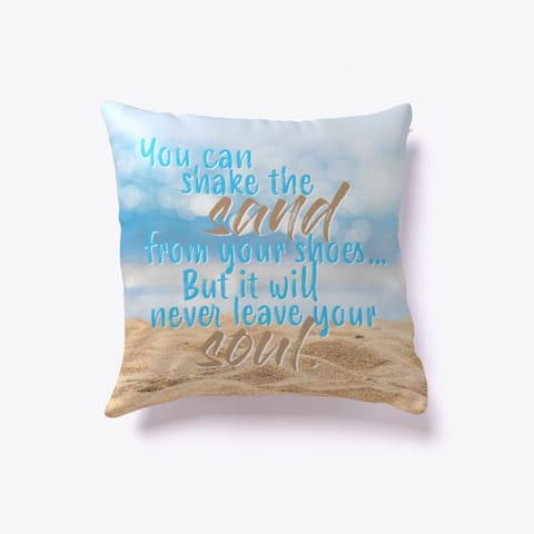Shake the sand throw pillow