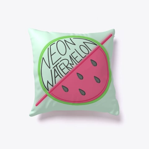 Neon Watermelon Throw PIllow
