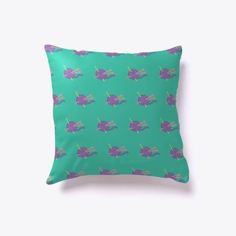 I Love Yarn Throw Pillow