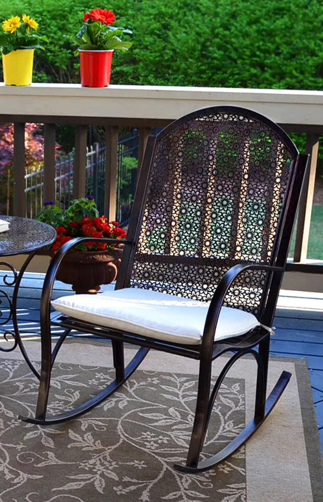 Tortuga Outdoor Garden Rocking Chair Black Bjs Wholesale Club