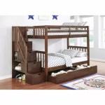 Berkley Jensen Twin Over Twin Stairway Storage Bunk Bed With Trundle Bjs Wholesale Club
