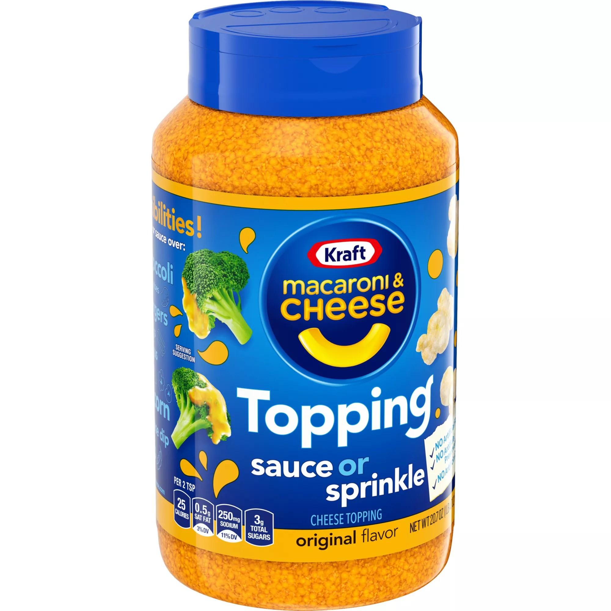 kraft macaroni cheese topping original flavor 20 7 oz