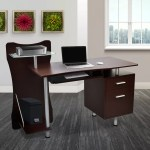 Techni Mobili Stylish Computer Desk Chocolate Bjs Wholesale Club