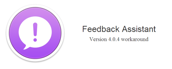 Feedback Assistant 4.0.4