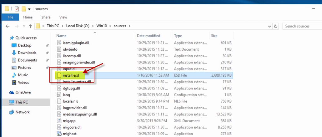How To Convert Windows ESD File into a Windows WIM File