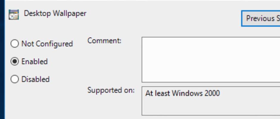 Windows 10 Desktop Wallpaper GPO