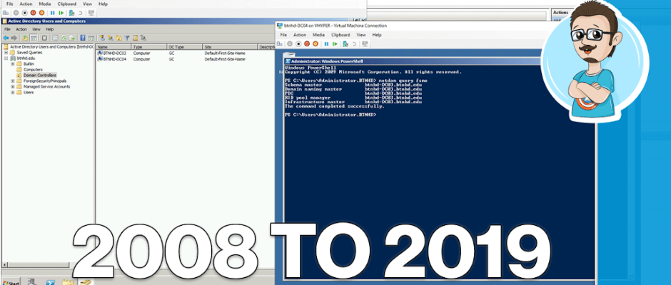 Server 2008 to Server 2019 Domain Controller