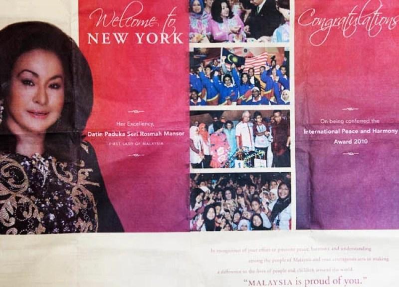 Rosmah Newspaper Ad Good Name