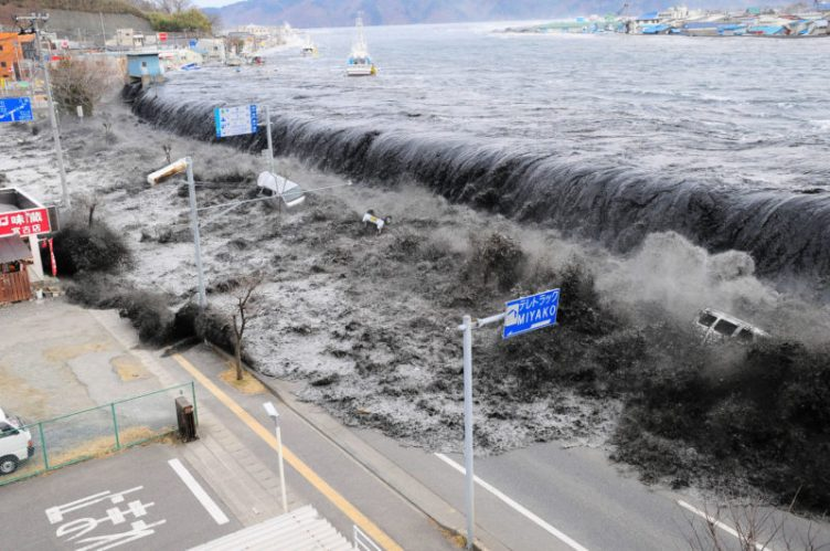 Japan tsunami natural disaster 2012 sea