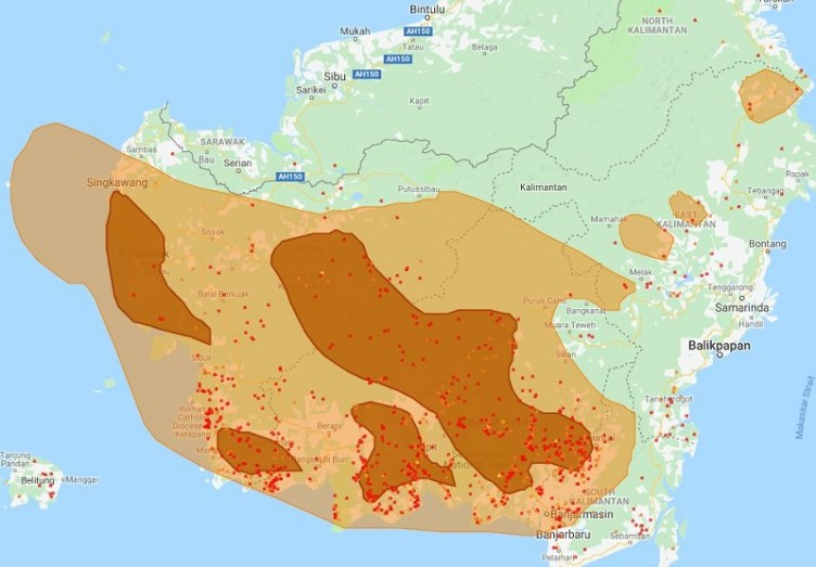 Indonesia Fire Hotspots Kalimantan