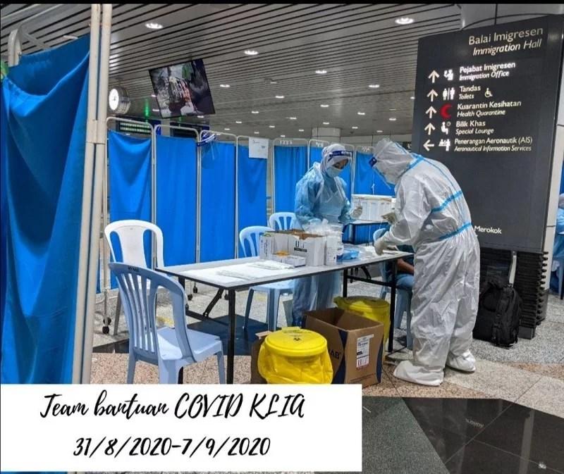 quarantine KLIA COVID19 flight
