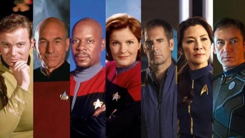 Star Trek Captain TV Series Kirk Picard Janeway