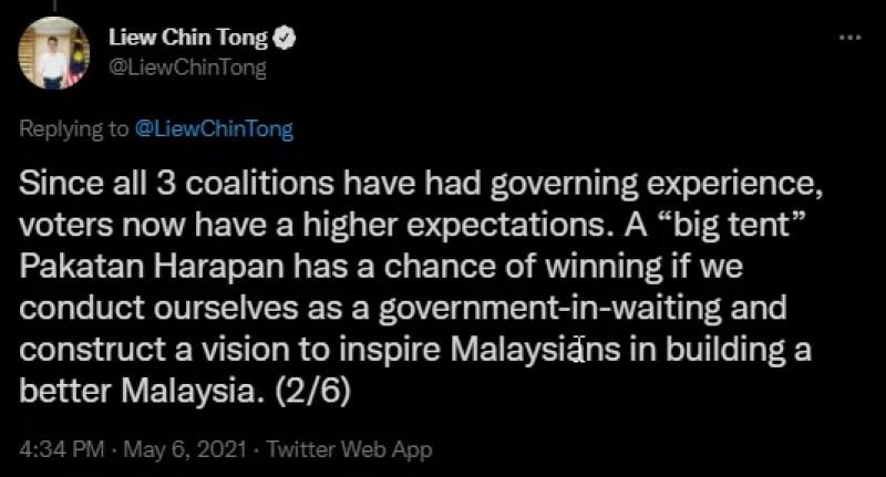 Cabinet Pakatan Harapan Big Tent