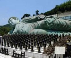 世界最大級の巨大涅槃像に圧倒 篠栗・南蔵院
