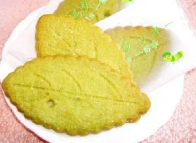 お茶の葉クッキー
