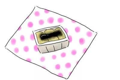 信玄餅_食べ方1