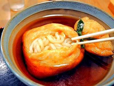 麺闘庵の巾着うどん