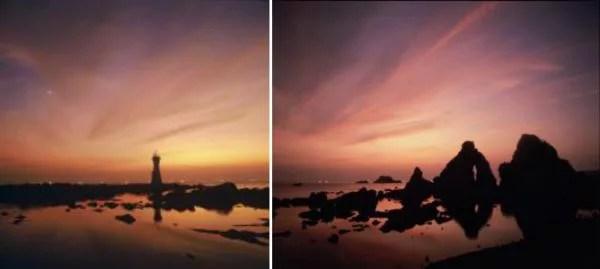 佐渡島観光スポット⑩絶景の夕日!七浦海岸「長手岬と夫婦岩」