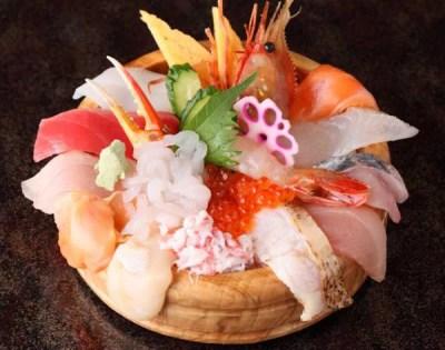 金沢海鮮丼ランキング③地元の魚をてんこ盛り!大名丼