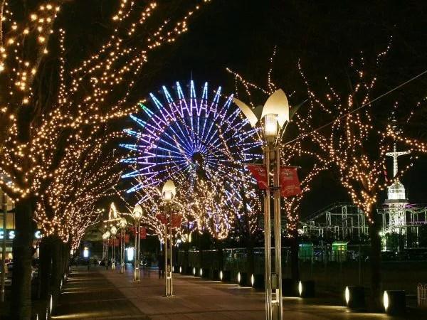 神戸イルミネーションランキング③神戸ガス燈通りのイルミネーションとモザイクの観覧車