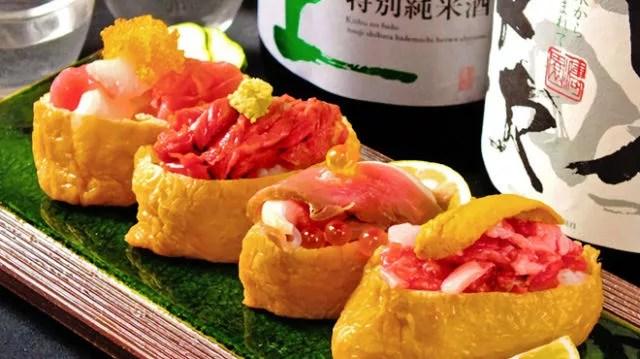 大阪の寿司ランキング②馬刺しのお寿司がインパクト大!「梅田 肉の寿司かじゅある和食 足立屋」