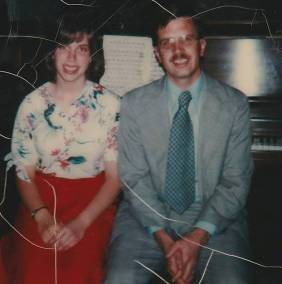 Barbra at age 14 with her piano teacher, Ted Anderson