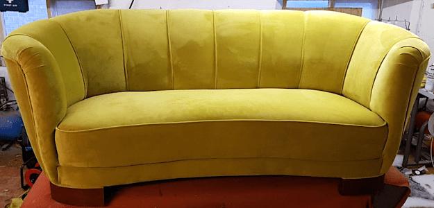 1930s mustard sofa