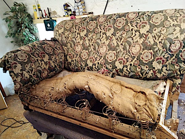 1920's Drop Arm Sofa