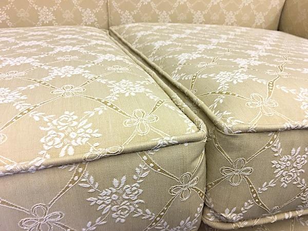 Double Camel Back Edwardian Sofa-seat