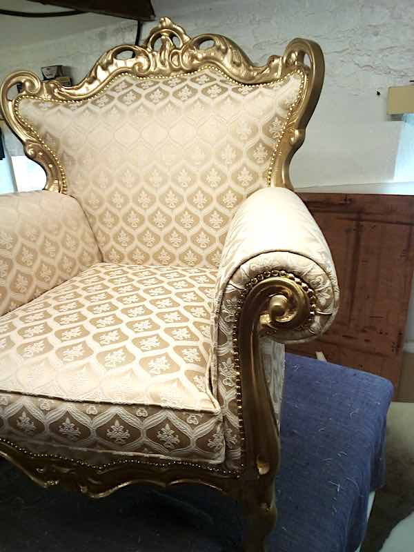 Gold Chair front