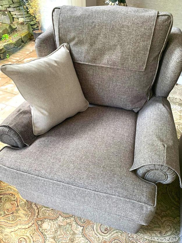 Grey Sofa Reupholstered