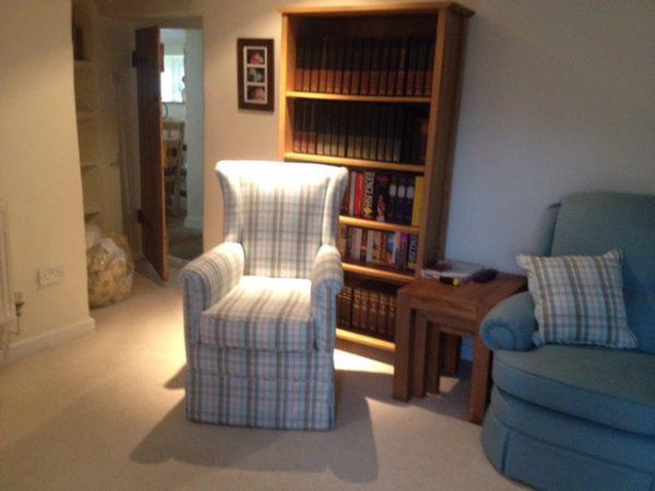 Plaid library chair
