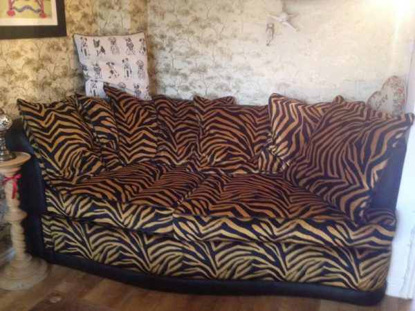 Jungle print sofa