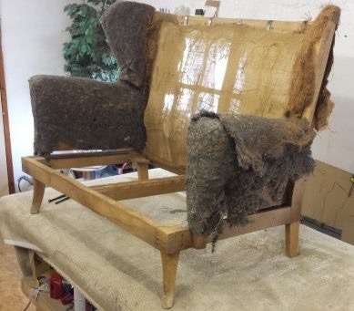 Parker Knoll two seater - befor