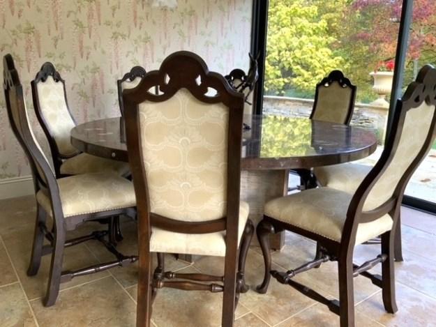 Spanish Hardwood Dining Chairs
