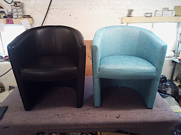 Tub chairs - befor and after