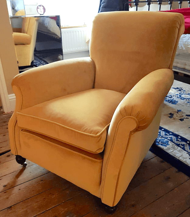Victorian Chair Gold Velvet