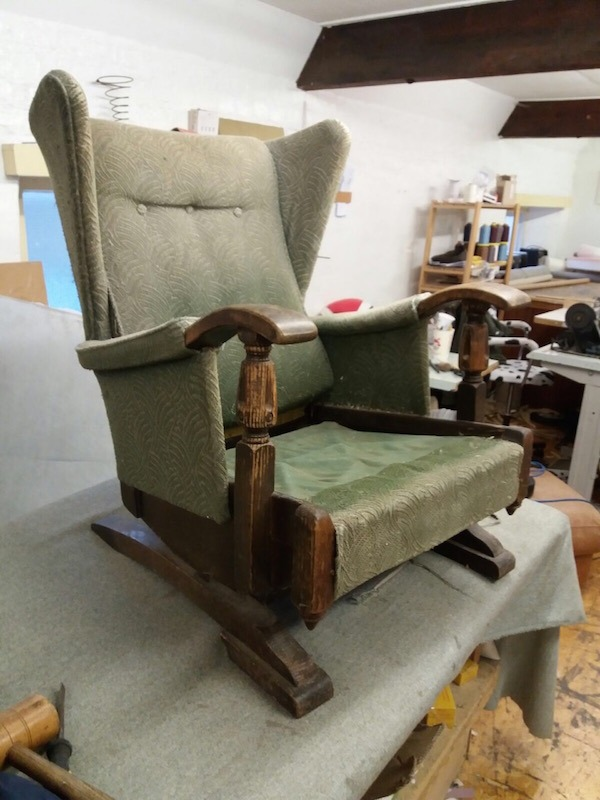 Wing Back Chair Restoration - before restoration