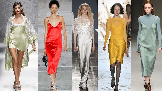 Image result for slip dresses trend 2018