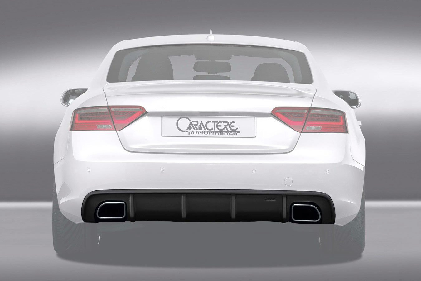 caractere rear diffuser with dual exhaust fits audi a5 b8 5 2 0 tfsi