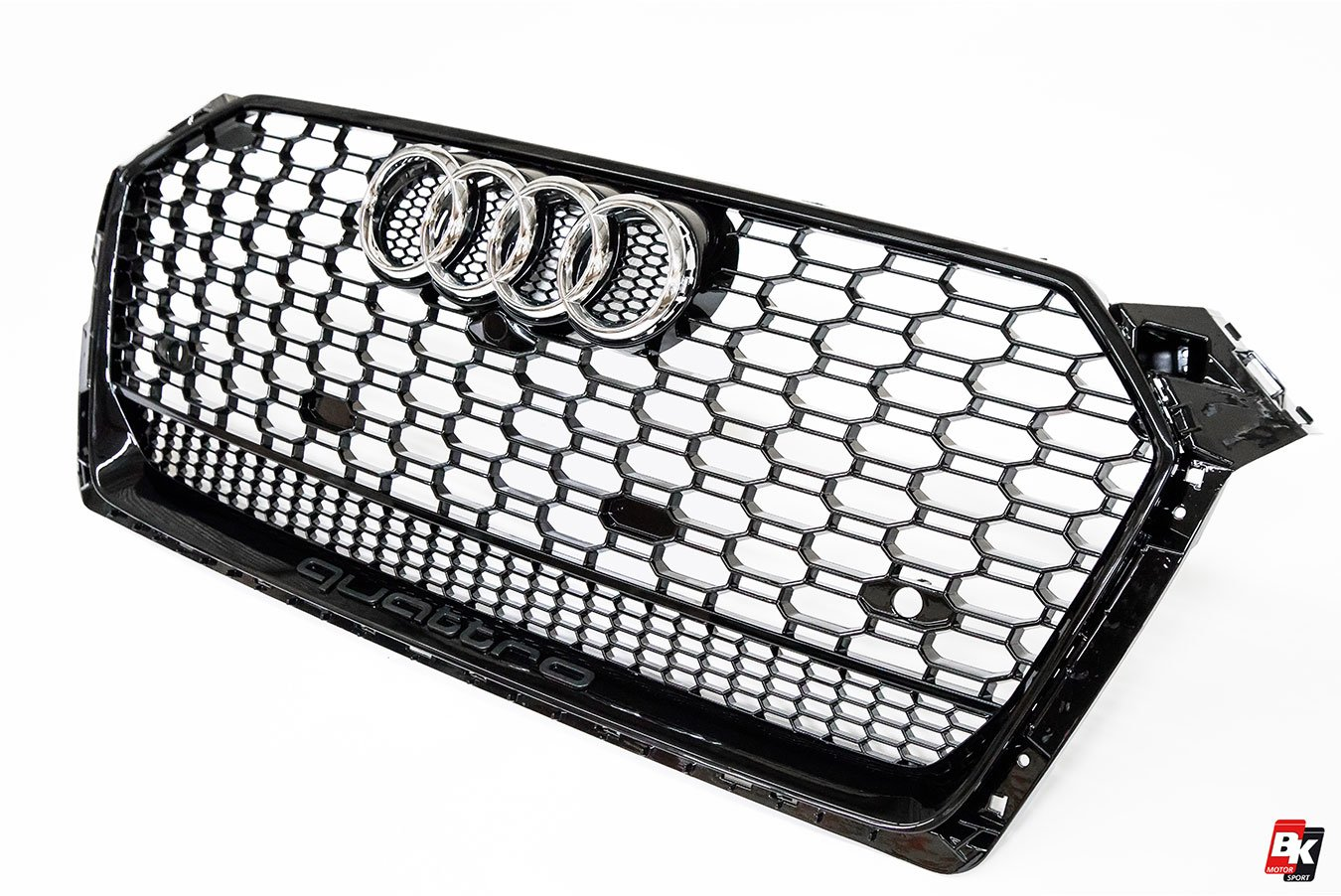 Bkm Front Grille With Black Frame Rs5 Style Fits Audi