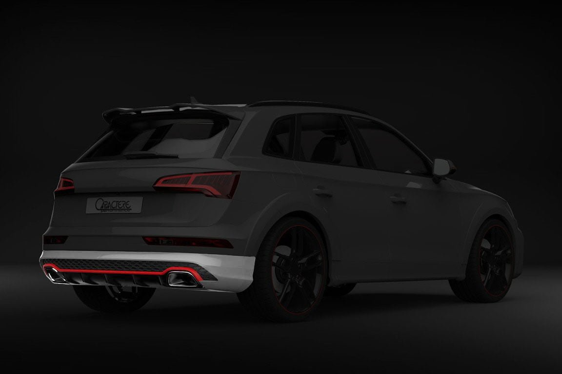 caractere rear bumper with integrated exhaust tips fits audi q5 sq5 b9