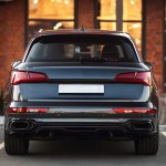 Bkm Rear Bumper With Exhaust Fits Audi Q5 Sq5 B9 Bk Motorsport