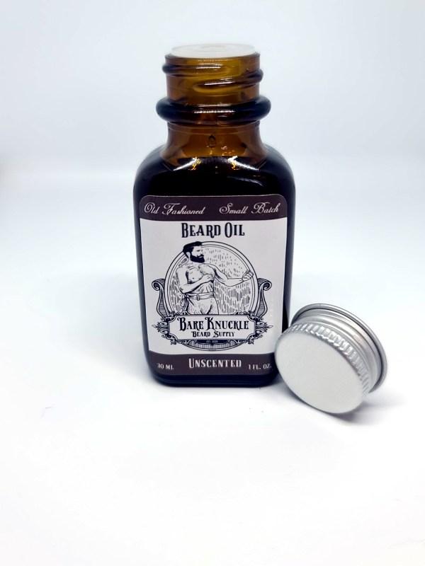 Unscented Beard Oil Open Cap